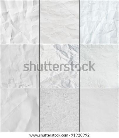 Set paper texture. Hi res
