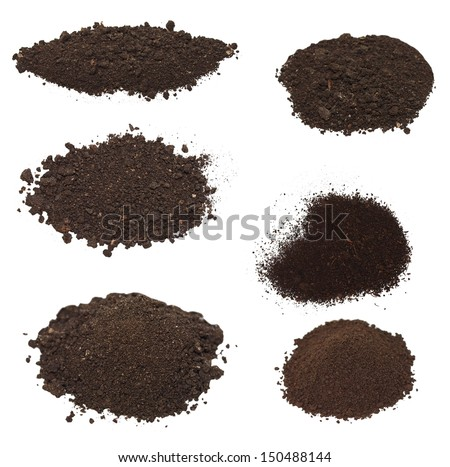 set pile dirt isolated on white background with clipping path, (high resolution)