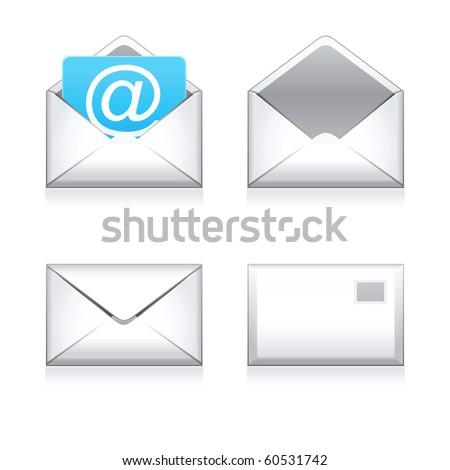 Set raster e mail icon