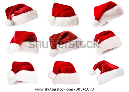 Set Santa hats - Christmas