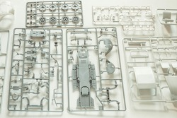 Set  spare parts of children's copies of vehicle for modeling