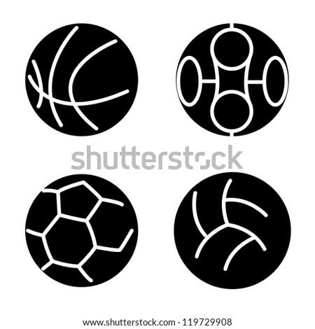 Set sport balls.  illustration