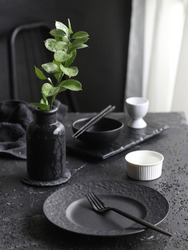 Set the table with a dinnerware collection that suits your style.