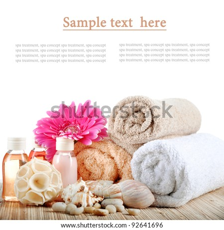 set to a spa on a white background