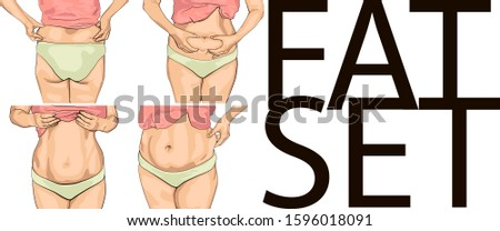 set women with fat belly. Fat set