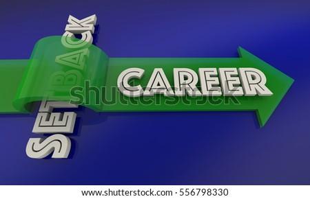 Setback Career Job Employment Promotion 3d Illustration