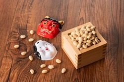 Setsubun, bean sowing, traditional Japanese events