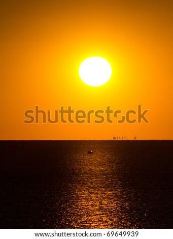 Setting Horizon Sun