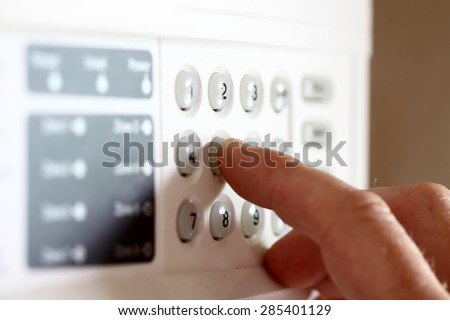 Setting security alarm