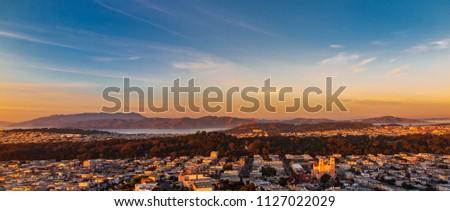 Setting Skies on San Fransico Сток-фото ©
