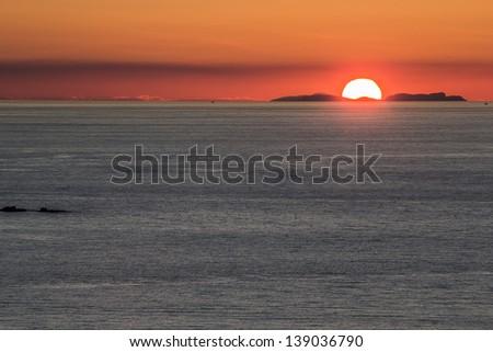 Setting sun over Summer isles,Achiltibuie,Scotland