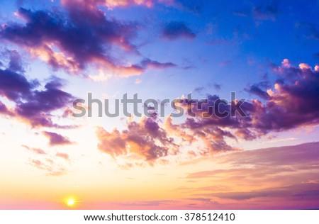setting sun sunset in the sky
