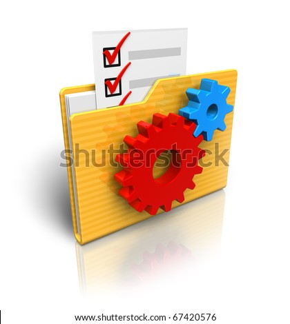 Settings folder icon - stock photo