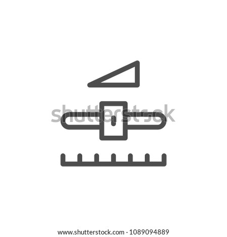 Settings line icon isolated on white