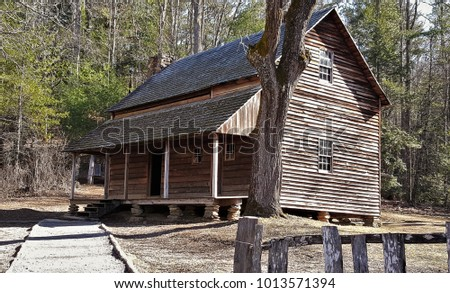 settlers cabin in the woods #1013571394