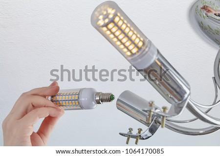 setts of led corn lamp in a...