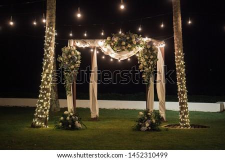 Setup Wedding ceremony romantic couple