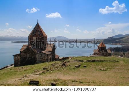 Sevanavank (Sevan Monastery) is a monastic complex located on a peninsula on the shore of Lake Sevan in the Gegharkunik region of Armenia. An ancient Christian shrine. #1391890937