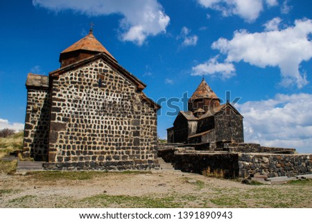 Sevanavank (Sevan Monastery) is a monastic complex located on a peninsula on the shore of Lake Sevan in the Gegharkunik region of Armenia. An ancient Christian shrine. #1391890943