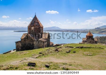 Sevanavank (Sevan Monastery) is a monastic complex located on a peninsula on the shore of Lake Sevan in the Gegharkunik region of Armenia. An ancient Christian shrine. #1391890949