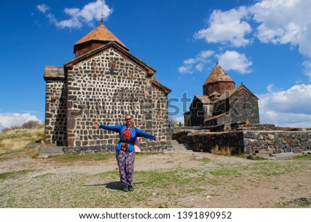Sevanavank (Sevan Monastery) is a monastic complex located on a peninsula on the shore of Lake Sevan in the Gegharkunik region of Armenia. An ancient Christian shrine and tourist. #1391890952