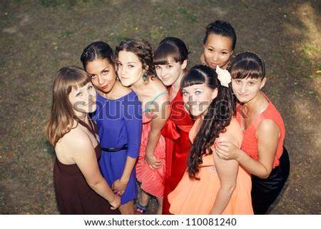 Seven beautiful girls