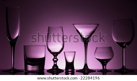 Seven different glasses