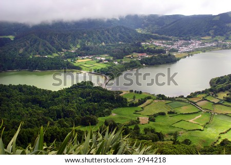 seven lake city in azores island of s miguel