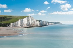 Seven Sisters National park, white cliffs, East Sussex, England