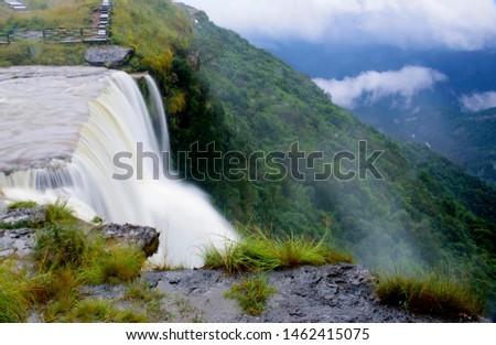 seven sisters waterfalls of Cherrapunji