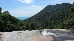 Seven Wells Waterfall on Langkawi Island.