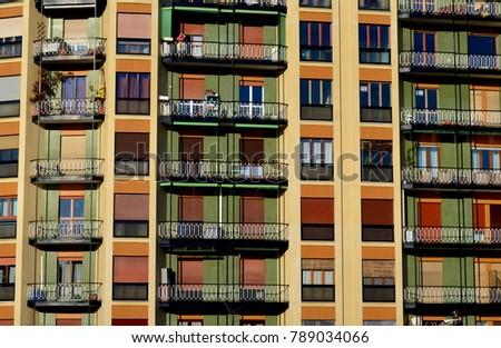 Seventies facades in Milan #789034066