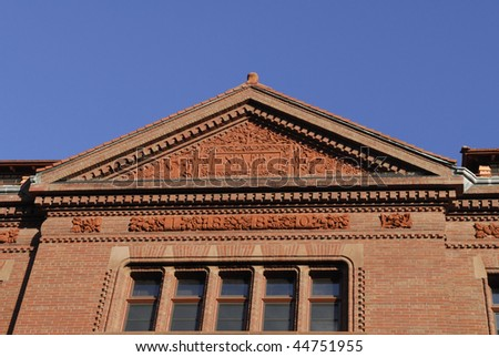 Sever Hall is located in Harvard, Cambridge, Massachusetts.  It is built in 1880 and is designed by H H Richardson.  It is a National Historic Landmark
