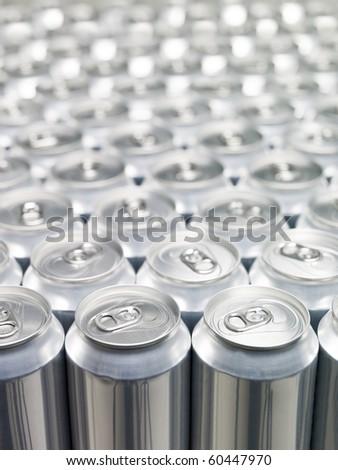 Several Aluminium Cans at a warehouse