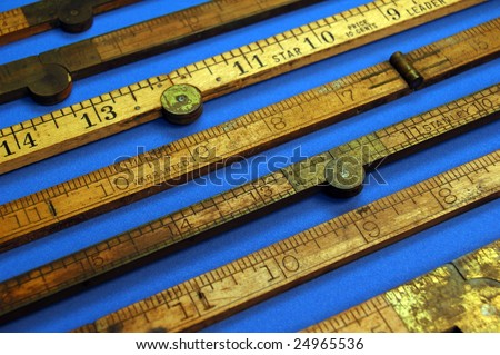 Several antique rulers