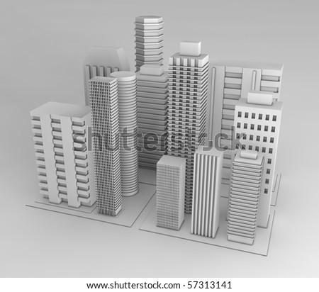 Several buildings