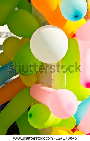 several color of toy balloon