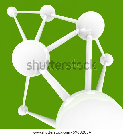 Several connected spheres with many links symbolizing intercommunication