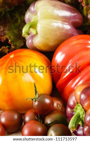 Several Fresh Vegetables