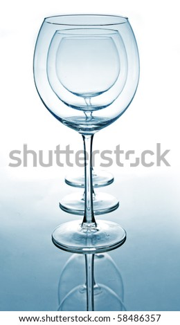 Several glasses for wine