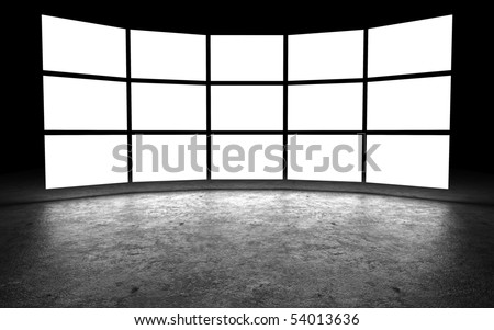 Several light box with blank space,3D rendering