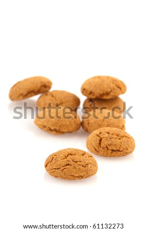 Several Sinterklaas ginger nuts isolated over white