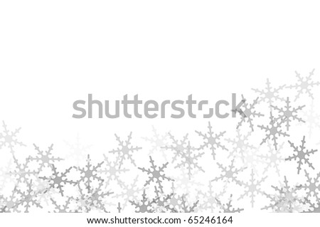 several snowflakes drawn on a white background