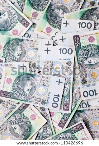 Several thousand Polish Zloty lying on a flat surface