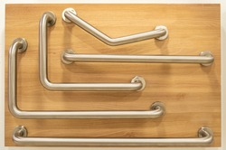several types of bathroom and toilet stainless steel handrail grab bars, safety support for elderly and disable people