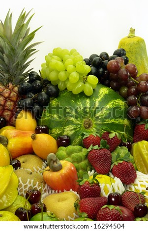Several variety of fruits. - stock photo