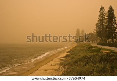 Severe dust storm on 2009-09-23 in Redcliffe, Queensland, Australia