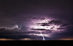 Severe thunderstorm with lots of lightnings