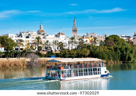 Sevilla view from Triana district, Spain