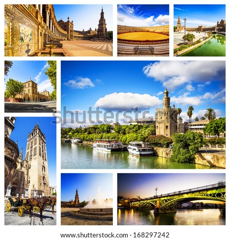 Shutterstock Seville Collage, Andalusia, Spain.